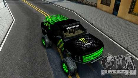 Chevrolet Silverado Monster Energy V2 для GTA San Andreas вид справа