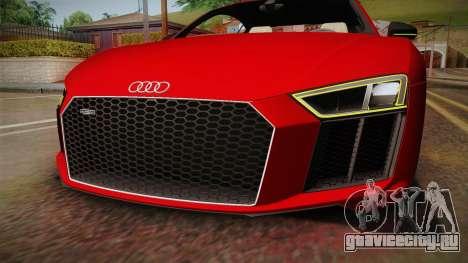 Audi R8 V10 2017 для GTA San Andreas