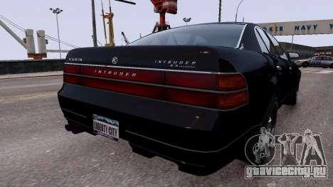 GTA V Intruder 2x для GTA 4 вид сзади слева