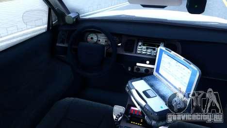 Ford Crown Victoria Generic 2010 для GTA San Andreas вид изнутри