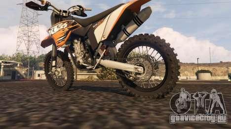 KTM EXC 530 2010 для GTA 5 вид справа