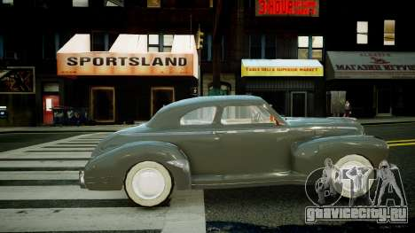 Buick Coupe 1941 для GTA 4 вид слева