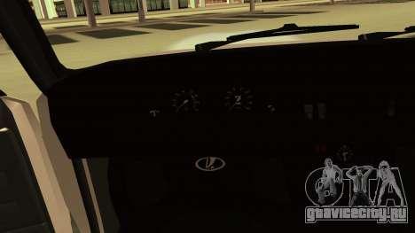 Ваз 2107 HUNLY для GTA San Andreas вид сбоку