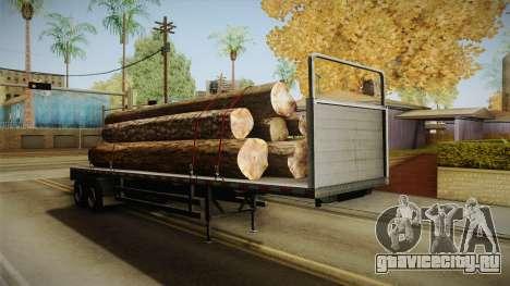 GTA 5 Log Trailer v1 для GTA San Andreas вид справа