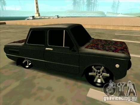 ЗАЗ 968М Мега Колхоз для GTA San Andreas вид сзади слева