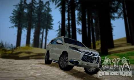 Mitsubishi Pajero Sport 2016 для GTA San Andreas