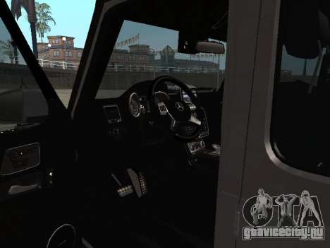 Mercedes-Benz G500 Armenian для GTA San Andreas вид изнутри