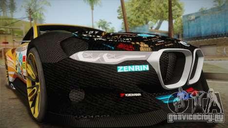 BMW CSL Hommage R 2015 GSR Project Mirai для GTA San Andreas вид сзади