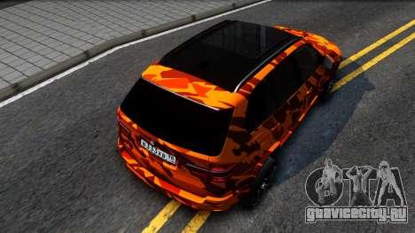BMW X5M E70 для GTA San Andreas вид сзади