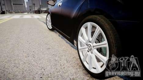 Honda Accord 2008 для GTA 4 вид сзади