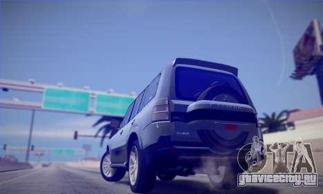 Mitsubishi Pajero IV 2015 для GTA San Andreas вид сзади слева