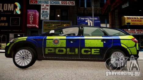 Ford Mondeo Estate police UK для GTA 4 вид слева