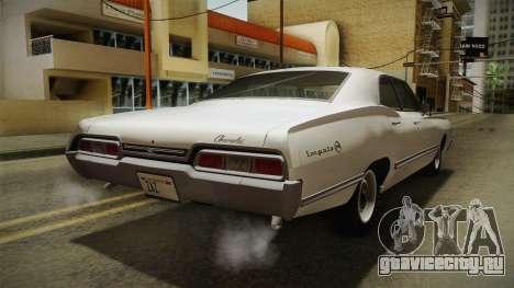 Chevrolet Impala Sport Sedan 396 Turbo-Jet 1967 для GTA San Andreas вид сзади слева