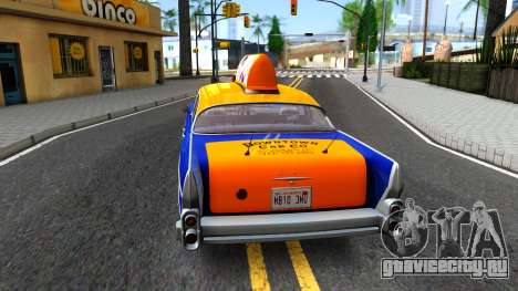 GTA V Declasse Cabbie для GTA San Andreas вид сзади слева
