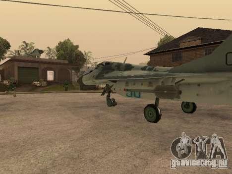 MIG-29 Armenian для GTA San Andreas вид сзади слева
