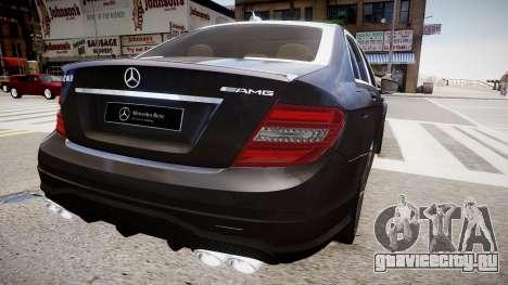Mercedes-Benz C63 AMG для GTA 4 вид слева