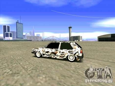 Volkswagen Golf Mk1 для GTA San Andreas вид сзади слева
