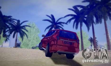 Mitsubishi Pajero Sport 2016 для GTA San Andreas вид справа