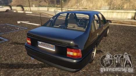 Opel Vectra A для GTA 5 вид сзади слева