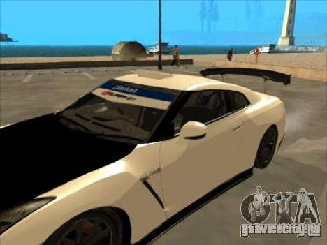 Nissan GT-R Drift JDM для GTA San Andreas вид изнутри