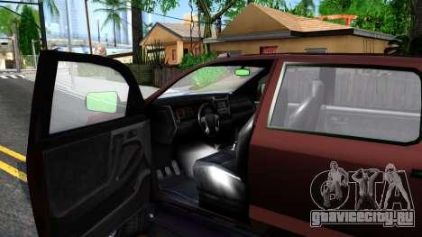GTA V Vapid Contender для GTA San Andreas вид изнутри