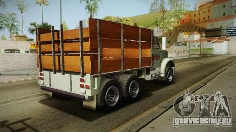 GTA 5 Vapid Scrap Truck Cleaner v2 для GTA San Andreas вид сзади слева