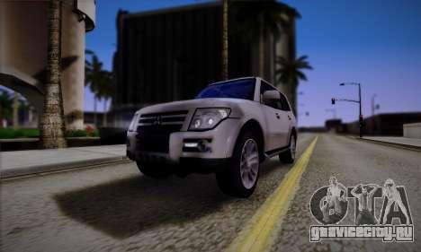 Mitsubishi Pajero IV 2015 для GTA San Andreas вид сбоку
