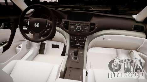 Honda Accord 2008 для GTA 4 вид изнутри