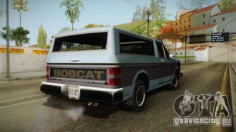 Bobcat XL для GTA San Andreas вид справа