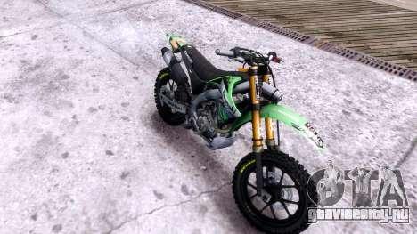 Kawasaki KX450F для GTA 4 вид справа