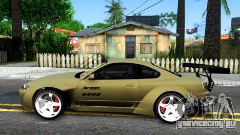 Nissan Silvia S15 Rocket Bunny для GTA San Andreas вид слева