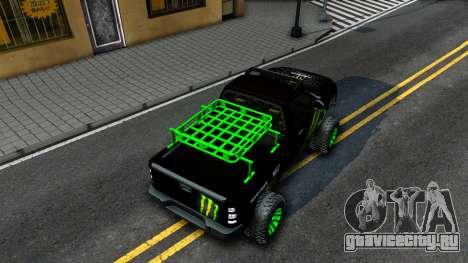 Chevrolet Silverado Monster Energy V2 для GTA San Andreas вид сзади