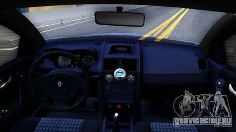 Renault Megane для GTA San Andreas вид изнутри