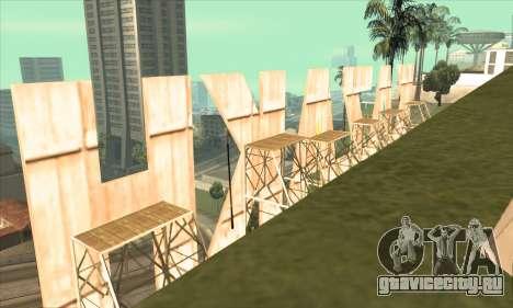 Надпись KAZAKH вместо Vinewood для GTA San Andreas третий скриншот
