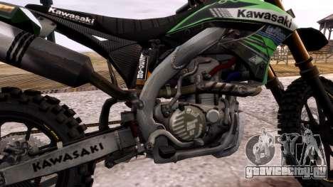 Kawasaki KX450F для GTA 4 вид изнутри
