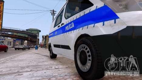 Ford Transit Polish Police 2015 для GTA 4 вид сзади