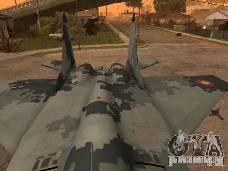 MIG-29 Armenian для GTA San Andreas вид сверху