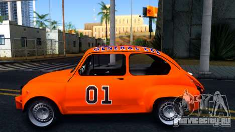 Zastava 850 Abarth General Lee для GTA San Andreas вид слева