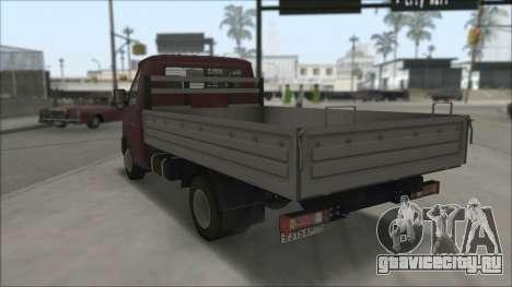 ГАЗель Бизнес 3302 для GTA San Andreas вид сзади слева