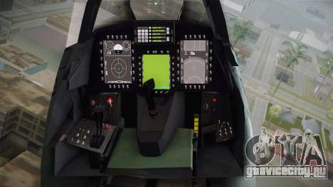 EMB J-39C Gripen NG FX-2 FAB для GTA San Andreas вид изнутри