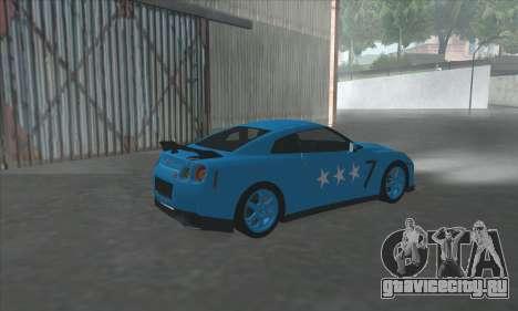 Nissan GTR Egoist 2011 (Флаг Казахское ханство) для GTA San Andreas вид справа