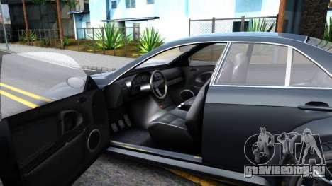 GTA V Ubermacth Sentinel Sedan для GTA San Andreas вид изнутри