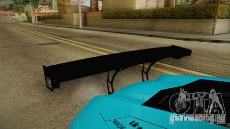 Lamborghini Aventador LP700-4 Liberty Walk LB для GTA San Andreas вид сбоку