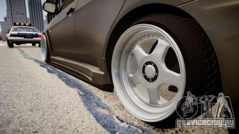Mitsubishi Lancer Evolution X Stance для GTA 4 вид сзади