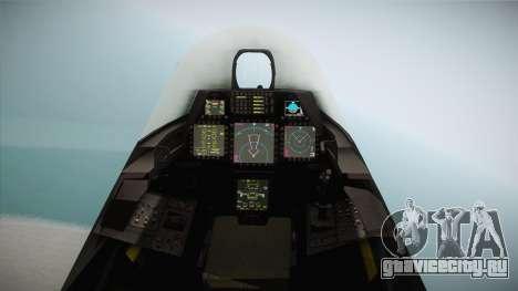 F-22 The Joker для GTA San Andreas вид сзади