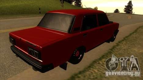 ВАЗ-2107 для GTA San Andreas вид сзади слева