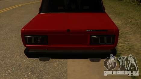 ВАЗ-2107 для GTA San Andreas вид справа