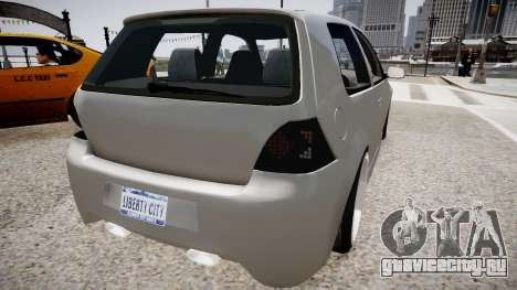 Volkswagen Golf EA v.2 для GTA 4 вид сзади слева