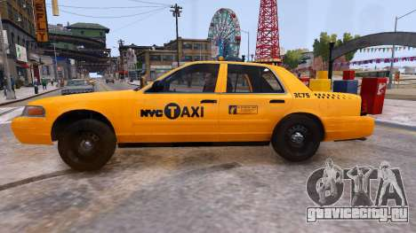 Taxi Nyc для GTA 4 вид слева