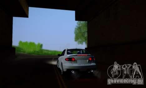 Mazda 6 MPS для GTA San Andreas вид изнутри